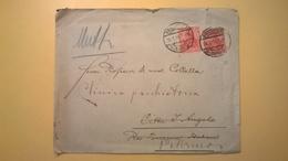 1914 BUSTA GERMANIA GERMANY VIAGGIATA FRANCOFORTE - PALERMO BOLLO DEUTSCHES REICH 1902 - Germania