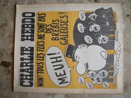 CHARLIE HEBDO - N°155 Du 5/11/1973 - Couverture De Wolinski - Non! Tous Les Flics Ne Sont Pas Des Brebis Galeuses - 1950 - Nu