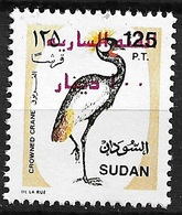 (027) Sudan Bird / Oiseaux / Vogel / Rare Red Surcharge / Aufdruck / Overprint ** / Mnh  Michel 578 B - Sudan (1954-...)