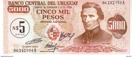 Uruguay P.57  5/5000 Pesos 1975   Unc - Uruguay
