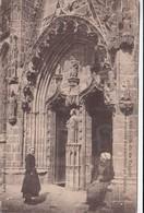 Cp , 29 , LE FOLGOËT , Notre-Dame Du Folgoët, Porche D'entrée Du Cardinal De Coëtivy - Le Folgoët