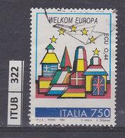 ITALIA REPUBBLICA 1993Europa Unita Paesi Bassi Usato - 1991-00: Oblitérés