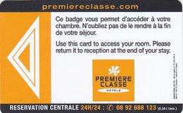 FRANCIA KEY HOTEL   Premiere Classe - Hotel Keycards