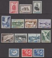 1956 ** Islande (sans Charn., MNH, Postfrish) Complete Yv 258/71  Mi 300/13  FA 334/47  (14v) - Island