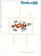 Boule Et Bill-France 2002-Journée Du Timbre-Document Officiel-Dans Pochette Plastique D'origine-4 Scans - Stripsverhalen