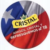 Lote CH28, Chile, Posavaso, Coaster, Cristal, El 18 - Portavasos