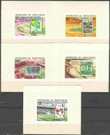 Soccer Football Haute Volta Upper Volta Luxes 740/4 Ovpt 1978 World Cup Argentina MNH ** - Coupe Du Monde