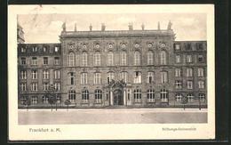 AK Frankfurt-Westend, Vorderansicht Der Stiftungs-Universität - Frankfurt A. Main