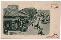 CEYLON/CEYLAN/SRI LANKA - COLOMBO - PETTAH / MARKET - 1901 - Sri Lanka (Ceylon)