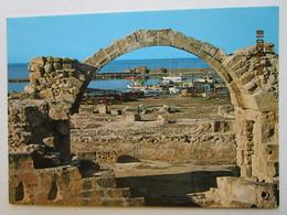 CP  Chypre Cyprus  - PAPHOS Pafos   Château De Saranta Colones  -  Le Port Et Les Bateaux - Chypre