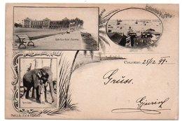 CEYLON/CEYLAN/SRI LANKA - COLOMBO VIEWS/HARBOUR / GALLE FACE HOTEL / ELEPHANT - 1899 - Sri Lanka (Ceylon)