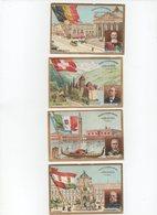 CHROMO Chicorée Cardon-Duverger Cambrai Autriche François-Joseph Italie Humbert Belgique Léopold Suisse Deucher (4 Chrom - Chromos