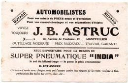 "Buvard Pneus "" India "". J.B.Astruc à Montpellier. - Automobile"