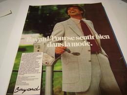 ANCIENNE PUBLICITE LA MODE BAYARD  1979 - Vintage Clothes & Linen