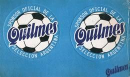 Lote A14, Argentina, Posavaso, Coaster, Quilmes, Sponsor Oficial De La Selección Argentina, Doble - Sous-bocks