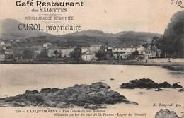 CPA CARQUEIRANNE - Vue Générale Des Salettes - Café Restaurant Des Salettes - Carqueiranne