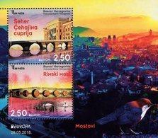 Bosnia & Herzegovina - Sarajevo - 2018 - Europa CEPT - Bridges - Mint Souvenir Sheet - Bosnië En Herzegovina
