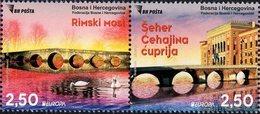 Bosnia & Herzegovina - Sarajevo - 2018 - Europa CEPT - Bridges - Mint Stamp Set - Bosnia And Herzegovina