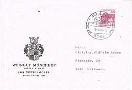 29600. Carta URZIG / MOSEL (Alemania Federal) 1980. Wein Und Luftkurort - [7] República Federal