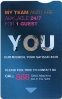 FRANCIA KEY HOTEL  Novotel - You Our Mission, Your Satisfaction - Hotel Keycards
