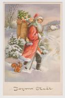"""Carte Joyeux Noel """" Père Noel , écureuil """" - Altri"""