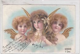 ANGELS, LIRIOS, DETAILS EN DOREE. CIRCA 1907- BLEUP - Engelen