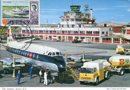 36868 Jersey, Maximum 1971 The Airport Of Jersey  And Airplane Of BEA - Airplanes