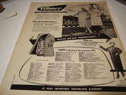ANCIENNE AFFICHE  PUBLICITEGABARDINES VILMER   1955 - Publicités