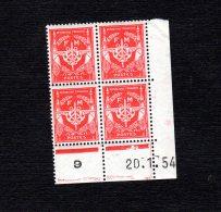 Coins Datés Du 20 1 54 N°12 FM Lot 1687 - Ecken (Datum)