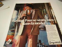 ANCIENNE PUBLICITE SE SENTIR BIEN  LA MODE BAYARD  1979 - Vintage Clothes & Linen