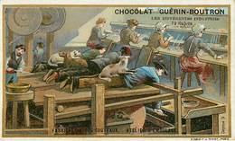 Chromos - Chocolat Guérin Boutron - Thiers  ? - Publicité - Coutellerie - Fabrique De Couteaux - Atelier D'émoulage - Guérin-Boutron