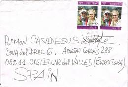 29608. Carta Aerea PARO (BUthan) 2008 To Spain - Bhoutan