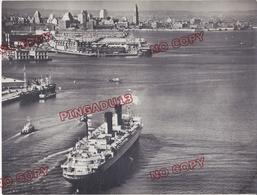 Bateau Porte Avions Remorqueur Port De New York Débuts Années 50 Beau Format Excellent état - Boats