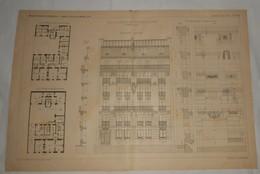 Plan D'une Maison De Rapport, Rue Boissonnade à Paris.. M. Bréasson, Architecte. 1891. - Public Works