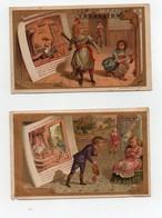 CHROMO Chocolat Louit Et Trébucien Romanet Conte Enfants Cendrillon La Belle Au Bois Dormant (2 Chromos) - Chocolat