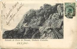 Pays Div : Ref M372- Bresil - Brasil - Estrada De Ferro Do Parana , Viaducto Carvalho -/etat: Leger Pli Bas Gauche - - Brésil