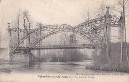 42 SAINT ETIENNE Le MOLARD Belle Construction Artistique Métallique PONT Sur Le LIGNON Aujourd' Hui Disparu Timbre 1907 - Zonder Classificatie