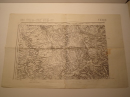 CARTE VERDUN SO EDITION PROVISOIRE REVISEE EN 1911 - Topographical Maps