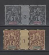 Océanie  établissement  _  2 Millésimes 1893  N°1/2 - Oceanië (1892-1958)