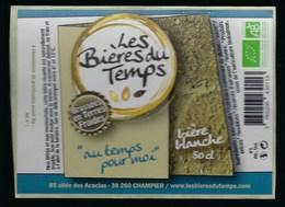 Etiquette Biere Blanche 6% 50cl  L'air Du Temps  Brasserie Les Bieres Du Temps Champier 38 - Beer