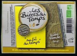 Etiquette Biere Blonde 6,5% 50cl  L'air Du Temps  Brasserie Les Bieres Du Temps Champier 38 - Beer