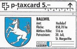 PTT P: KP-93/78B3 309L Kanton Luzern, Amt Hochdorf, Ballwil - Schweiz