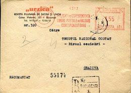 36881 Romania, Red Meter/freistempel/ema/ 1961  Urzica, Circuled Cover - Marcophilie - EMA (Empreintes Machines)