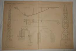 Plan Du Viaduc De La Siagne. Ligne De Draguignan à Grasse. Chemins De Fer Du Sud De La France. 1891. - Travaux Publics