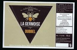 Etiquette Biere  Dubbel 7% 75cl  La Germoise  Brasserie Bulle's Germaine 02 - Beer
