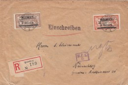 Deutsches Reich Memel R Brief Heydekrug 1922 - Klaipeda