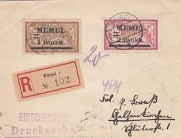 Deutsches Reich Memel R Brief 1922 - Klaipeda