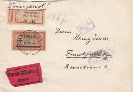 Deutsches Reich Memel R Brief Nimmersatt 1922 - Klaipeda
