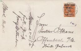 Deutsches Reich Memel Postkarte 1920 - Klaipeda