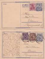 Deutsches Reich 2 Postkarten 1922 P147A - Non Classés